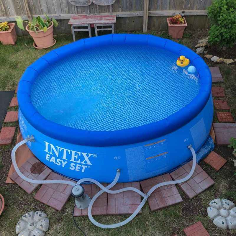 Intex 10ft x30in AGP Inflatable Round Top Ring Inflatable Family Pool Big  Outdoor Adult Swimming Pools