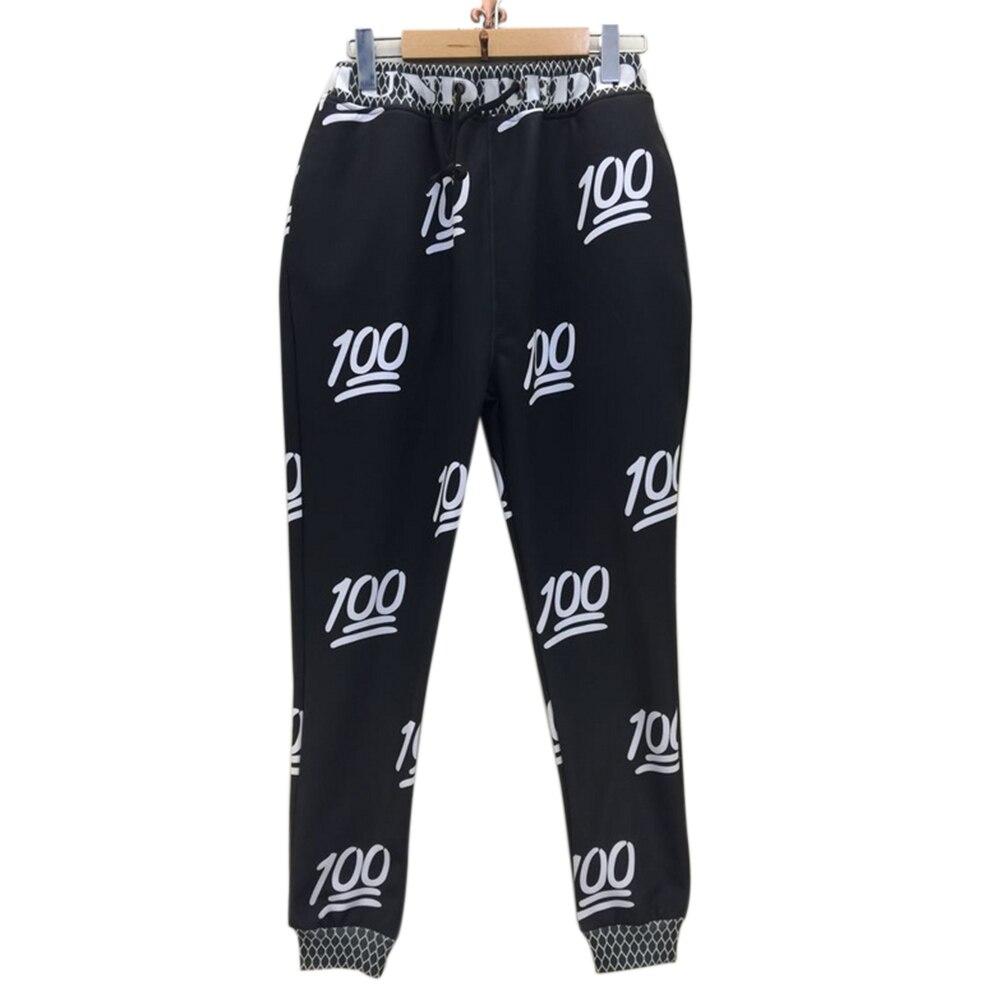 2017 New fashion Women/men Fall emoji joggers 3d sweatpants print diamonds/heart/Victory/fists Expression Harem pant trousers