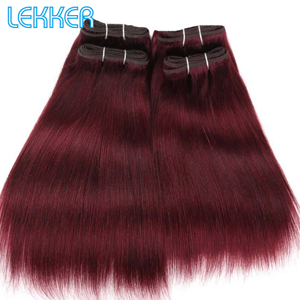 Lekker Hair Bundles Brazillian Yaki Straight Human Hair Bundles 4 Bundles Deal 190G Per Pack Natural Black Beauty Salon