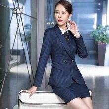 Formal Uniform Design Professional Blazers Suits With 4 Piece Blazer + Vest +Blouse + Skirt For Ladies Blazers Plus Size 4XL