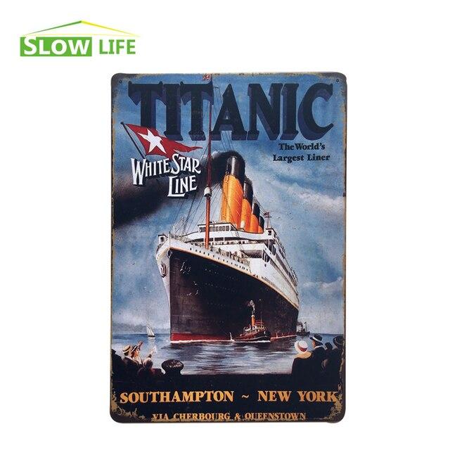 Wholesale Titanic Maiden Voyage Vintage Home Decor Tin Sign 8\