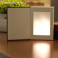 New LED Flame Book Lamp Table Lamps Night Lights Battery Magic Warm Flame Lamp Bar Restaurant