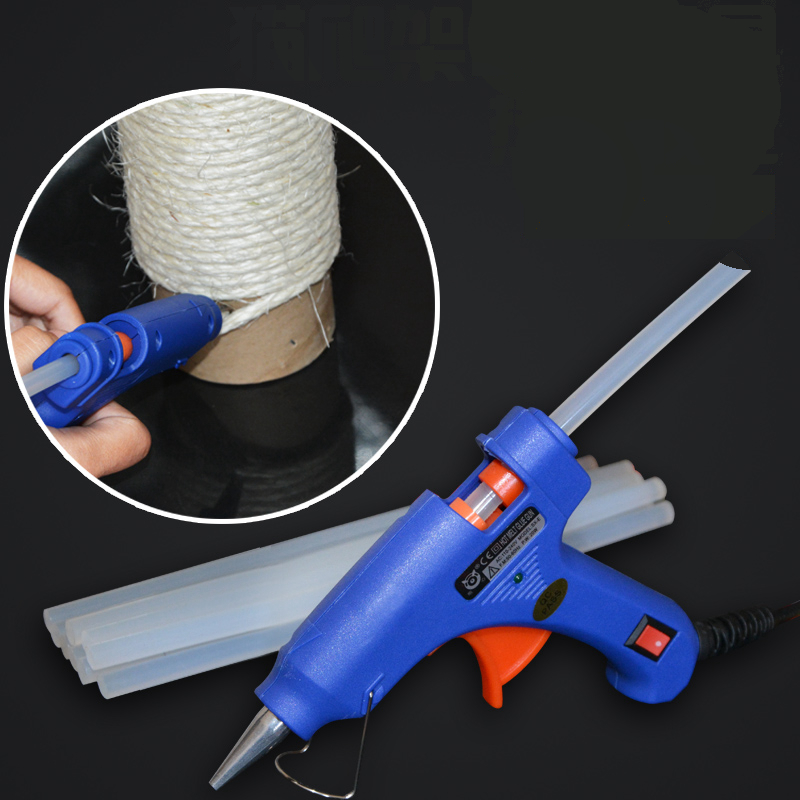 [mpk Tools] Silicone Adhesive Gun For Sticking Your Sisal Rope In Place, Diy Tool For Cat Scratch Products, Silicone, Cable Tie