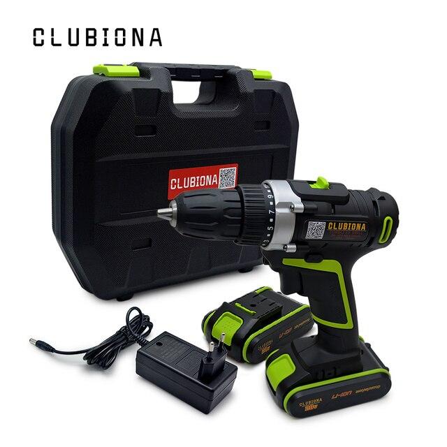 CLUBIONA высокая эффективность мощный и сертифицированный Номинальное напряжение 20 в литий-ионный аккумулятор беспроводной электродрель отве...