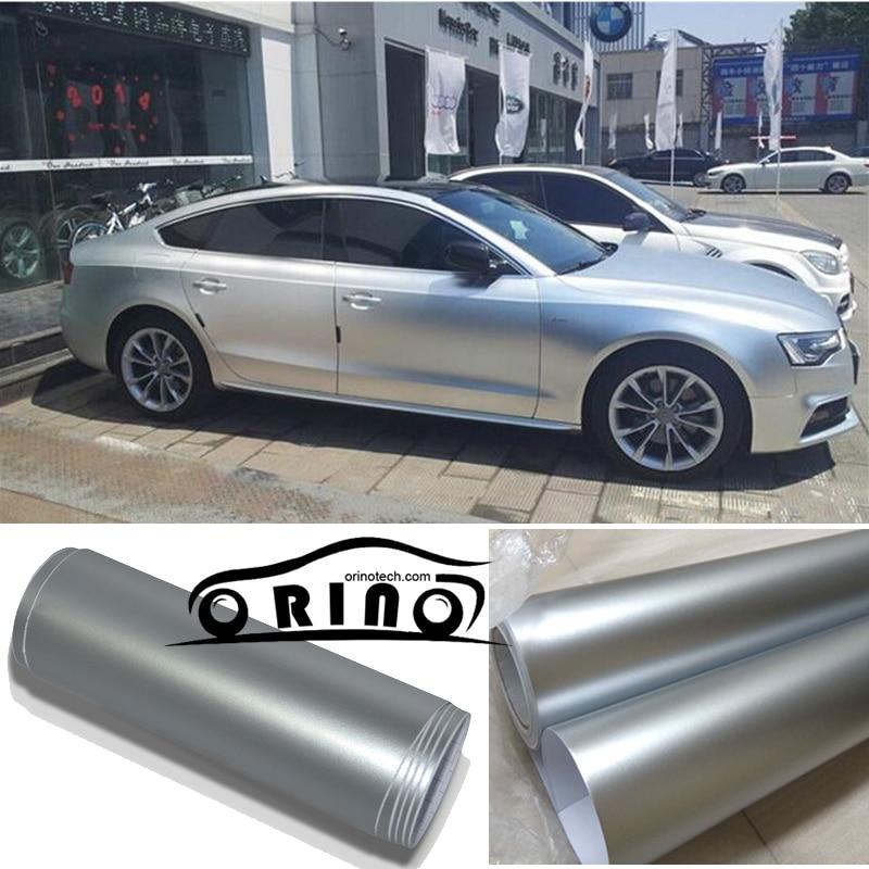 1 52x20m Roll Silver Metallic Matt Vinyl Wrap Car Wrap