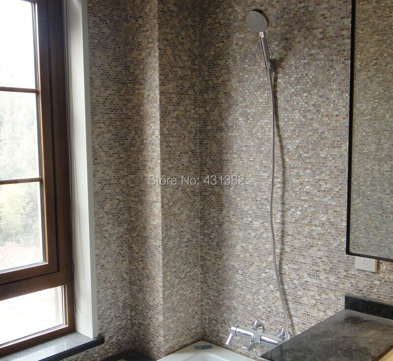 White Mother Pearl Subway Shell Mosaic Tiles Mother Of Pearl