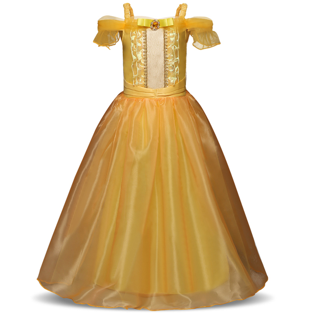 Carnival Dresses for Kids Girls Halloween Cosplay Sleeping Beauty Princess Dresses Christmas Costume Party Children Kids Clothes