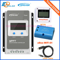 30A 12V/24V MPPT Solar Panel Battery Regulator Charge Controller with MT50 USB and wifi function Tracer 3210AN