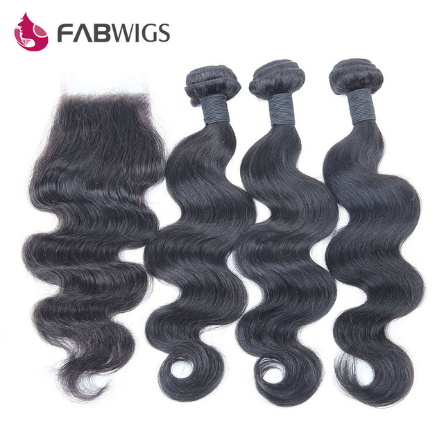 7A Grade Brazilian Virgin Hair with Closure Human Hair Weave 3 Bundles Deal with Lace Closure Brazilian Body Wave with Closure