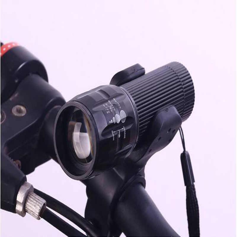 Linterna LED de 2000LM con zoom, linterna de luces led, minilinterna led para bicicleta