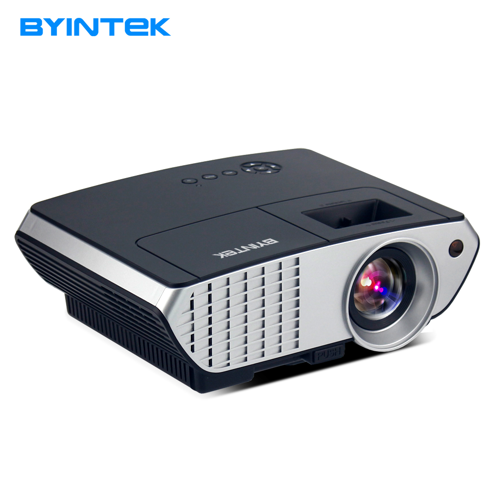 BYINTEK MOON BL126 HDMI USB LCD LED Android WIFI Home Theater Video Portable Projector HD 1080P Proyector Beamer Russian Korean tv home theater led projector support full hd 1080p video media player hdmi lcd beamer x7 mini projector 1000 lumens