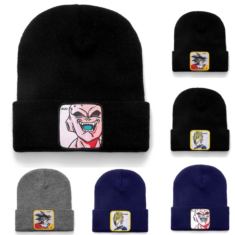 High Quality Dragon Ball Z   Beanie   Hat 3 Models Casual   Beanies   For Men Women Warm Knitted Winter Hat Streetwear Solid Unisex Cap
