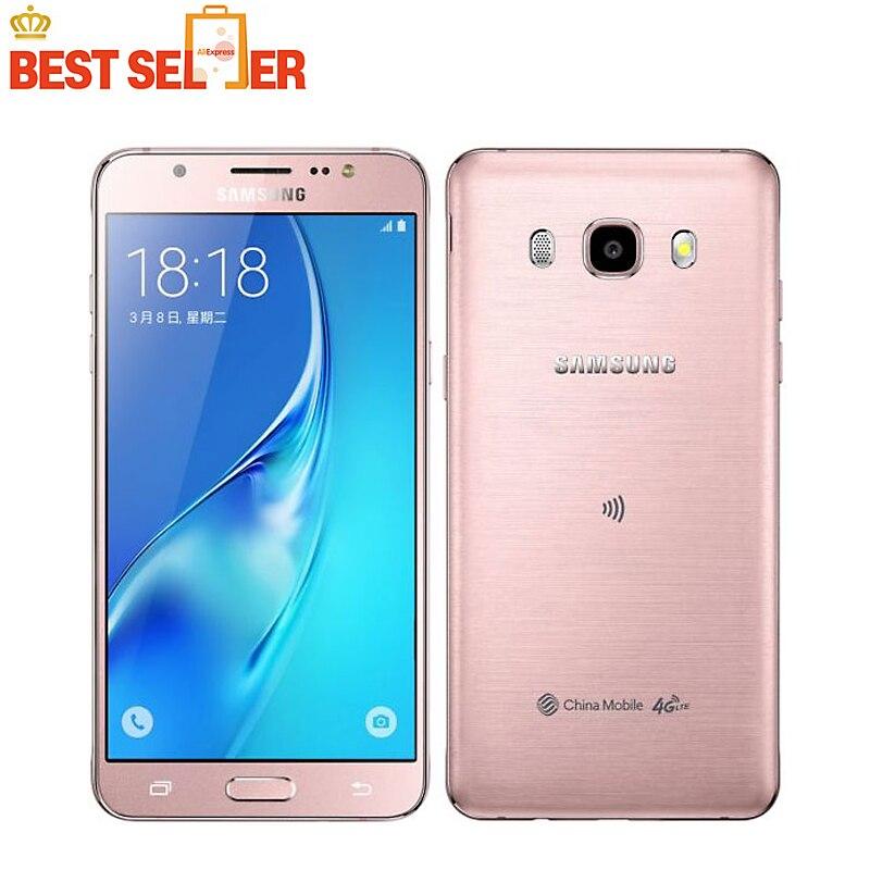 """Цена за Оригинальный samsung galaxy j5 (2016) 4 Г LTE Мобильный телефон Snapdragon 410 Quad Core Dual SIM 5.2 """"13.0MP NFC мобильный телефон"""