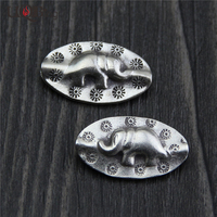 Vintage Jewelry Accessories S925 Sterling Silver Elephant Charm Beads Wholesale Women DIY Jewelry Findings