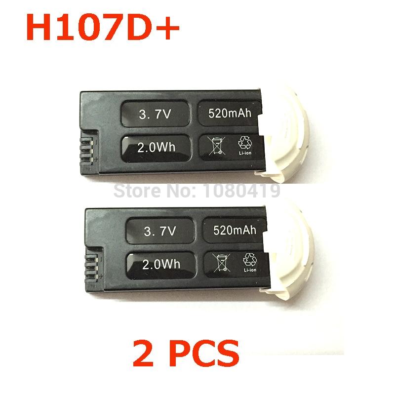 """""""Hubsan FPV X4 Plus"""" akumuliatorius H107D + akumuliatorius 3.7V 520mAh """"Hubsan FPV X4 Plus"""" atsarginės dalys"""