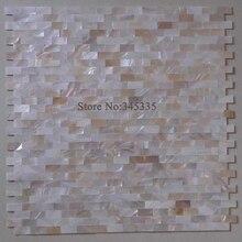 Натуральный кирпич mother of pearl мозаичная плитка для ванной Санузел для ванной комнаты украшение интерьера обои камин стены границы