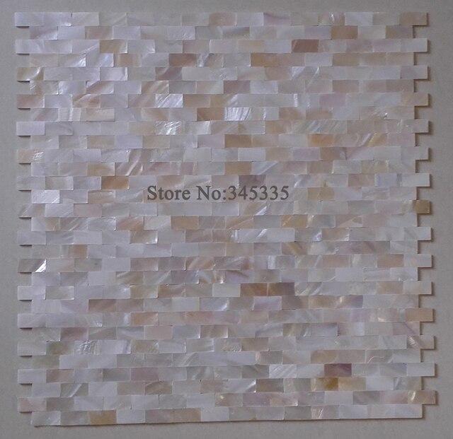 Natur Brick Perlmutt Muschel Mosaik Fliesen Küche Backsplash Badezimmer  Dekoration Innen Tapete Kamin Wand Grenze