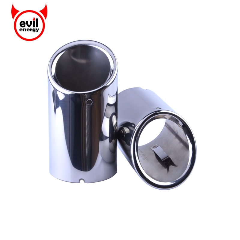 evil energy Free Shipping Universal Audi A5 A4 Q5 Stainless Steel Exhaust Tips Pipe Car Styling Muffler Exhaust Pipes Tail universal exhaust car high power 304 stainless steel silencer car exhaust tips with car styling exhaust pipes 2 5 in
