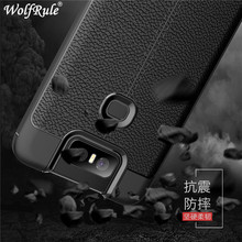 Case Asus Zenfone 6 ZS630KL Phone Cover Shockproof Luxury Leather Soft TPU For 2019 6Z ]