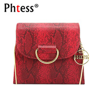 PHTESS Serpentine Shoulder Bag Famous Brand Female Messenger Bags Feminina Bolsa Luxury Chain Crossbody Bag Sac