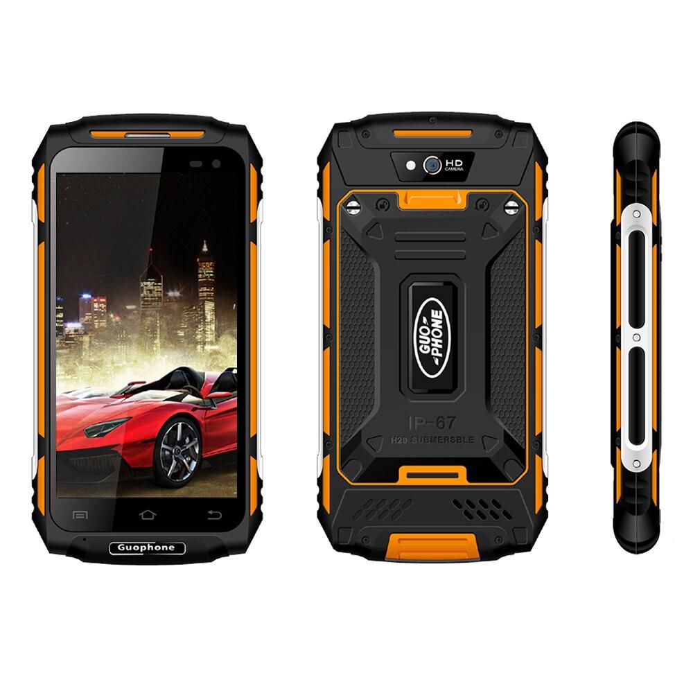GUOPHONE X2 IP67 Impermeabile shockproof Del Telefono Mobile 5500 mah 5.0 HD MTK6737 Quad Core 2 gb + 16 gb android 6.0 8MP GPS 4g SmartPhone - 5