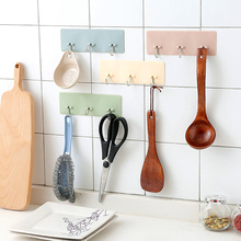 купить Wall Hook Creative Kitchen Bathroom Hanger Hook Home Organizer Accessory For The Modern Home Adhesive Hooks Key Holder Wall Home по цене 91.74 рублей