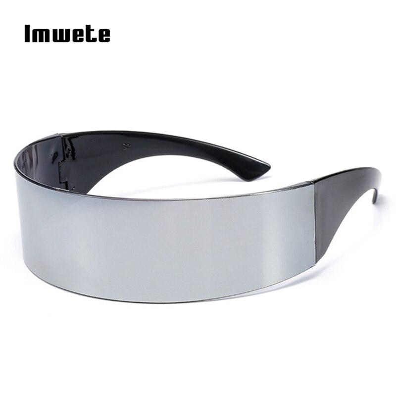 Imwete divertidas gafas futuristas abrigo alrededor Monob disfraces novedad máscara del partido de Halloween Decoración