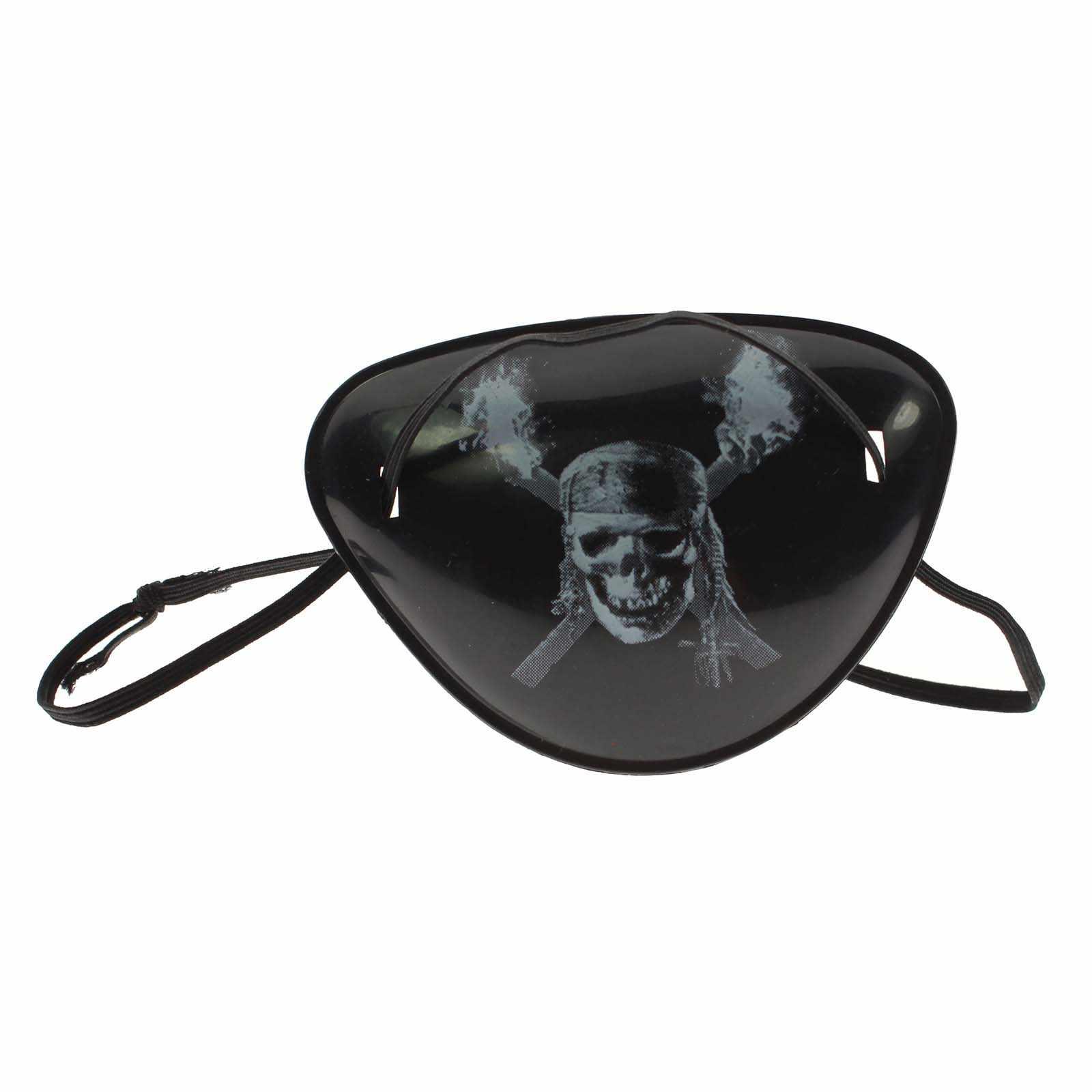 Czaszka pirata, dziecko, dziecko, pojedynczy przepaska na oko pokrywa maska Halloween Party kostium Prop