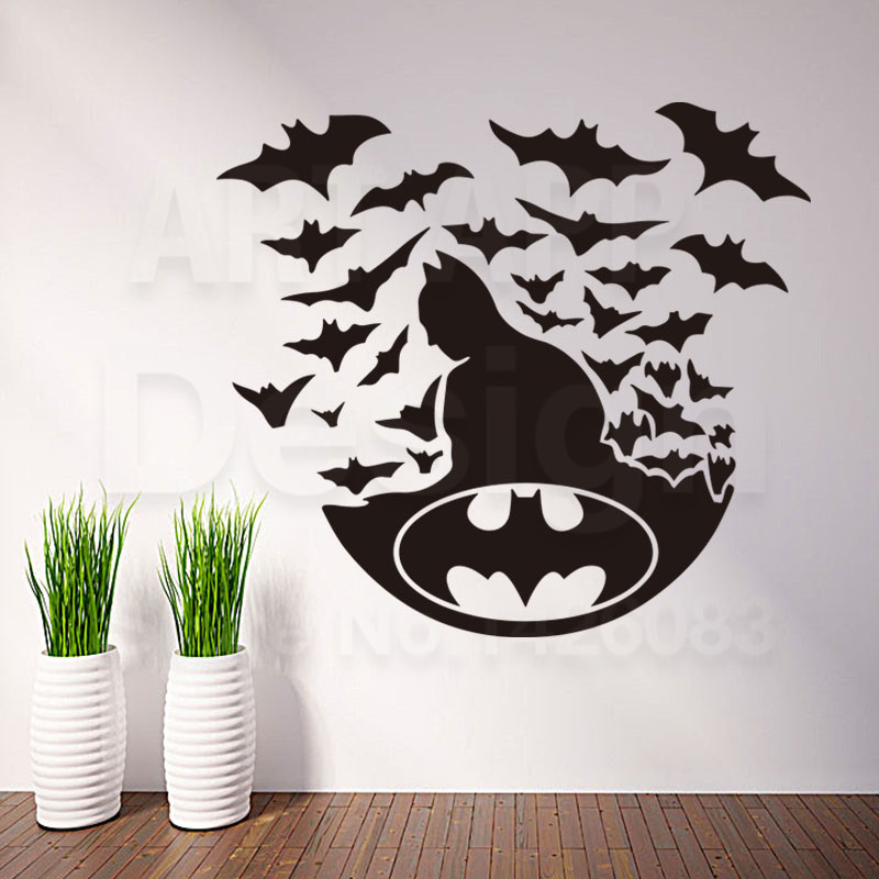 Arte diseño barato vinilo decoración del hogar casa decor super hero batman logo