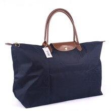 Custom LOGO 2016 folding hand bag nylon large capacity hand luggage bag short distance travel bag