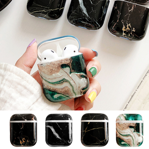 Image 1 - Soft Marble Earphones Case For Apple Airpods 2 1 i7 i10 Earbuds TPU Skin Cover Girl Women Protective Cover Shell Birthday Gifts