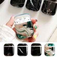 Écouteurs en marbre souple pour Apple Airpods 2 1 i7 i10 écouteurs housse en polyuréthane thermoplastique fille femmes housse de protection coque cadeaux danniversaire