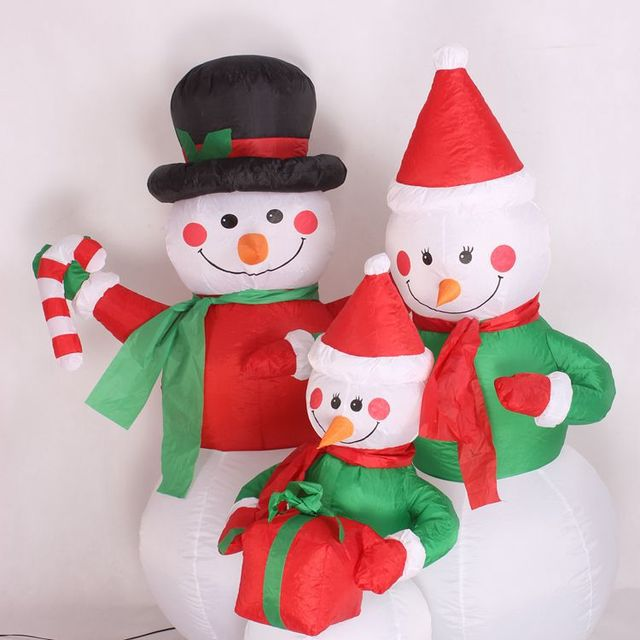 12m xmas large outdoor christmas inflatable snowman decorations family led lighted christmas yard art decoration