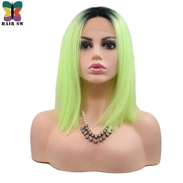 Haar Sw Kurze Glatte Synthetic Lace Front Perücke Cut Bob Frisur