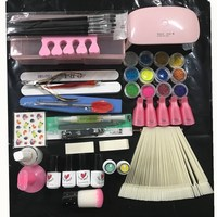 Rosalind Manicure Set Nail Set For Manicure Gel Nail Polish Nail Art Kits Mini Nail Dryer Tools For Manicure Soak Off UV Gel
