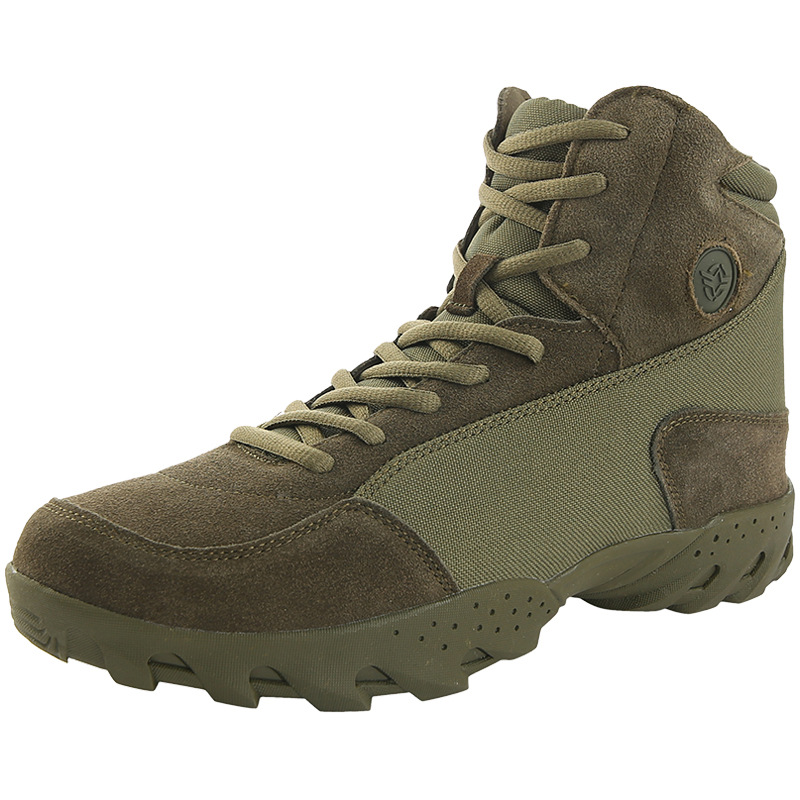 Men Suede Leather Nylon Defence Puncture Tactical Boots Male Outdoor Climbing Hiking Desert Combat Military Lace Up Ankle Shoes new outdoor hiking boots special forces tactical boots men s desert combat boots size 39 40 41 42 43 44 45