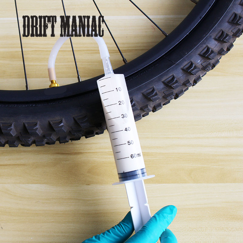 Bicycle Tubeless Tire Refit Set Contain Bicycle Tire Clamps Tubeless valve Tape Bike Syringe For Sealant Injection in Bicycle Tires from Sports Entertainment
