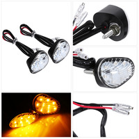 Turn Signal LED Indicator Light Lamp Flush Mount Amber Color For Yamaha YZF R1 R6 FZ1