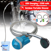 Portable outdoor shower USB Shower camping car Water Pump Rechargeable camping shower hiking camping equipment kit camping portable outdoor showers set in pakistan