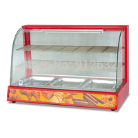 Hot koop elektrische glas warming showcase temperatuur tussen 30 ~ 85 graden