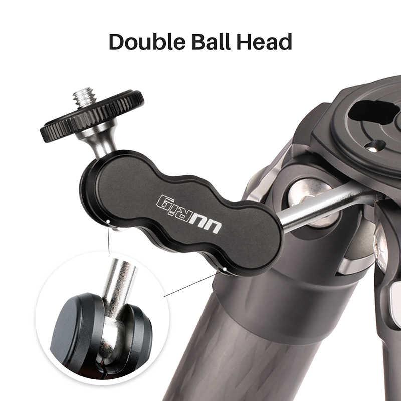 UURig R002 ترايبود ماجيك الذراع مع المزدوج Ballhead توضيح 1/4 ''المسمار العالمي كاميرا شاشة عرض فيديو محول تركيب