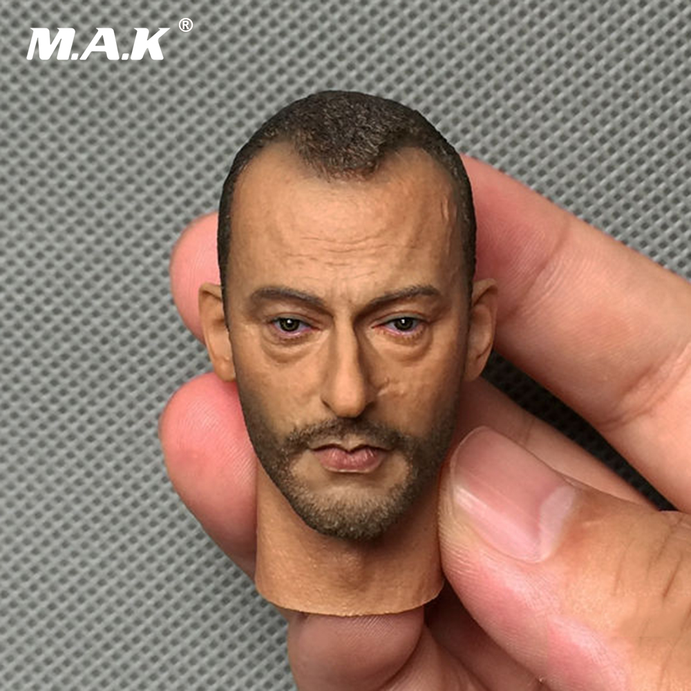 1:6 Scale Leon Jean Reno Head Sculpt Male Head Model For 12 Action Figure Body 12 inch 1 6 scale male head sculpt for 12 men action figure toys collections