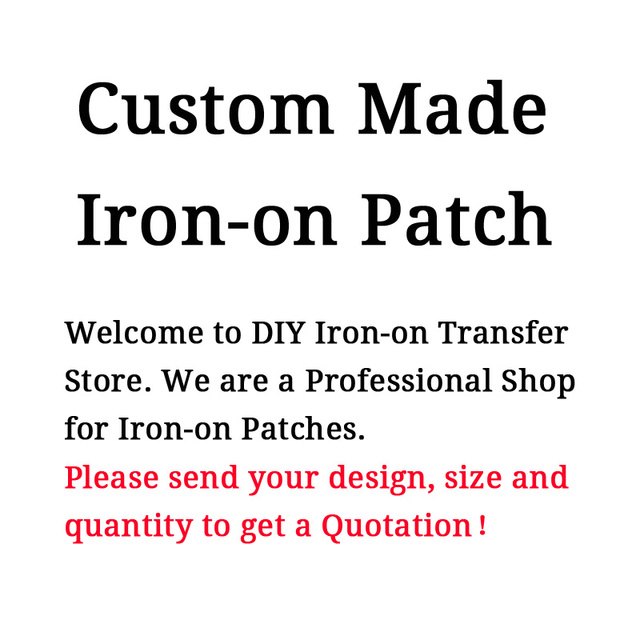 $  Custom Made Iron-on Patches For All Kinds Of Clothes
