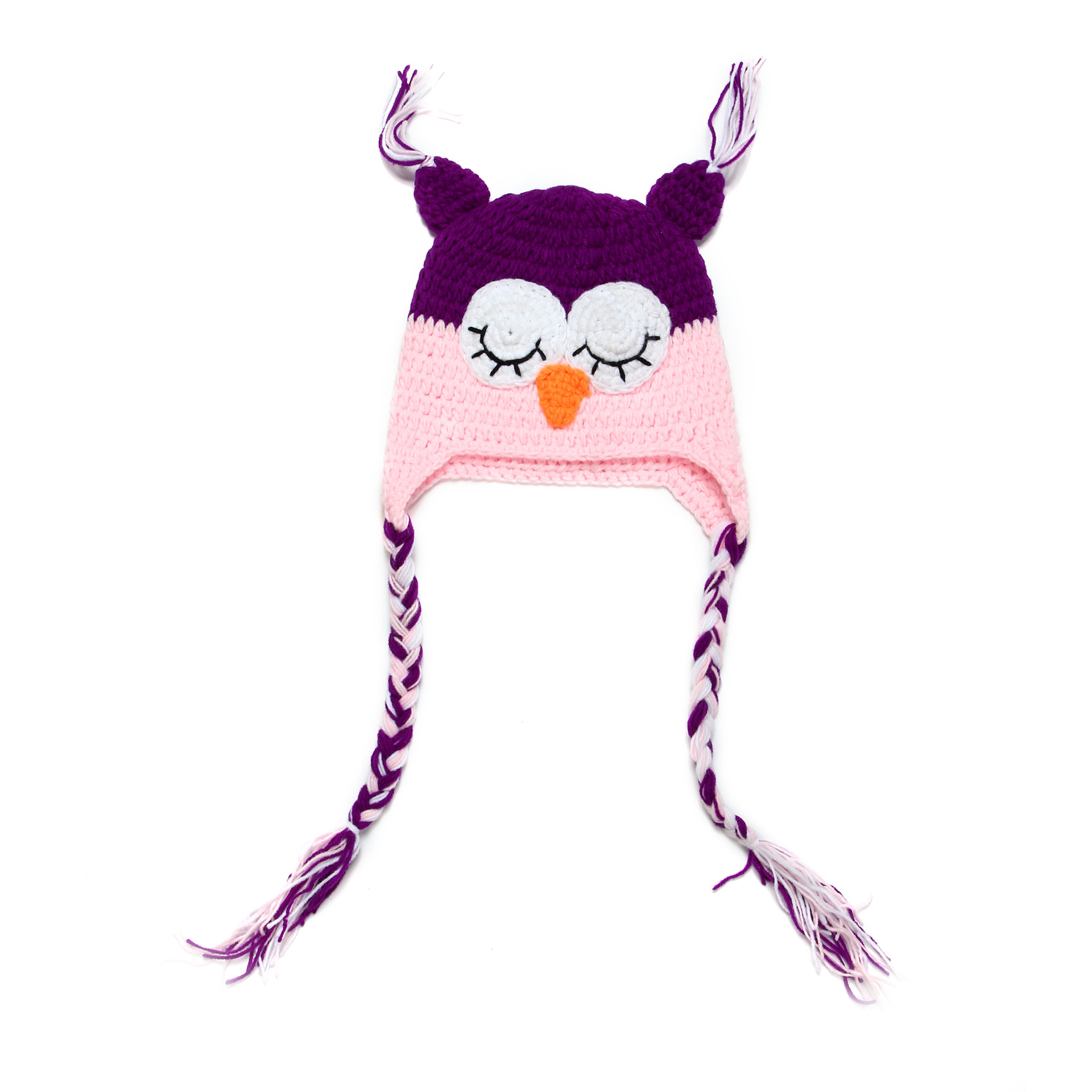 ede52441d17 Kids Baby Wool Hand knit Stocking Cap Owl Hat Animal Hat Cute Baby Gifts  Child knitted Accessories