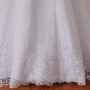 Image 5 - Vestidos De Noiva White Backless Lace Mermaid Wedding Dress 2021 V Neck Short Sleeve Wedding Gown Bride Dress Robe de mariage