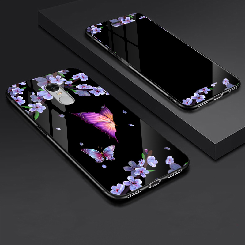 For Xiaomi Redmi Note 4X 4 X Tempered glass Case + Tempered Glass Screen Protector Film for Xiaomi Redmi Note 4X Cover Note4X