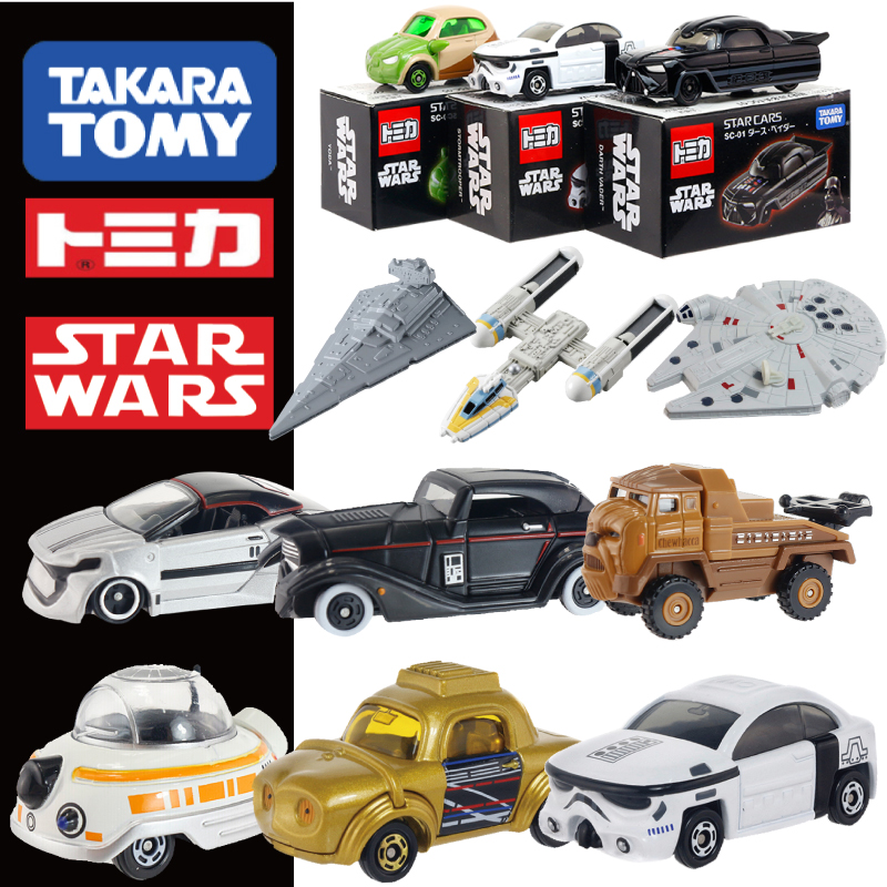 DISNEY Tomy Tomica Car Star Wars White Soldier Black Soldier Diecast Toys Metal Model Car