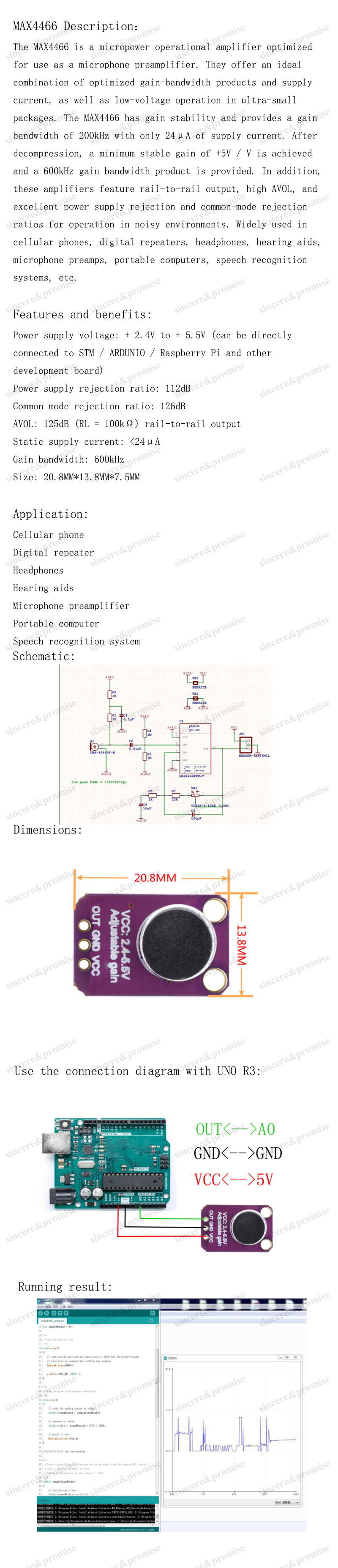 Detail Feedback Questions About Max9814 Microphone Agc Amplifier Electret Max4466 With Adjustable Gain For Arduino 14