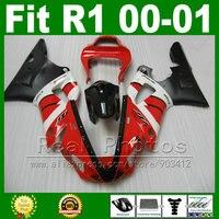 То же, что и oem Обтекатели для Yamaha YZF R1 2000 2001 комплект Красного обтекателя YZFR1 00 01 1000 YZF R1 кузова комплекты пластиковые части X5g6
