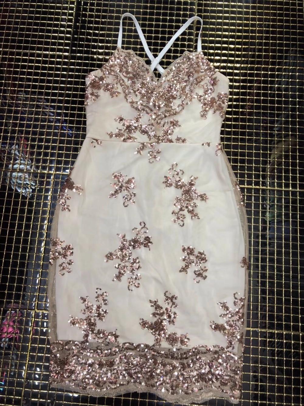 Abbellito Celebrity All'ingrosso Shimmer Chic Maglia Mini Strap Sexy Vestito Spaghetti Elegante Paillettes Donne 816vw5xvtq